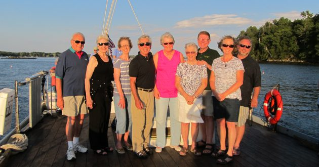 DALC board and donors spend an evening on Great Bay