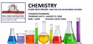 Summer Chemistry Class now available for registration